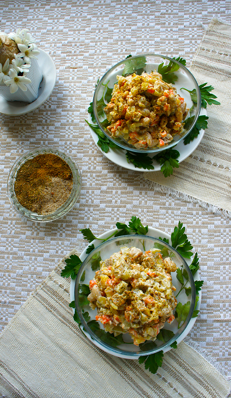 Haricot Bean & Crouton Salad
